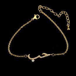 Wholesale Halloween Customs Women - Wholesale 10Pcs lot 2017 Hot Sale Snap Jewelry Bracelets Crystal CZ Arabic Women Love Bracelet Fashion Custom Gold Bracelets For Men