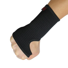 Wholesale Wholesale Wrist Strap Weightlifting - Wholesale- Kuangmi Compression Wrist Support Sports Wristband Bracer Hand Palm Protector Wrist Wraps Strap Weightlifting Boxing Wrist Guard