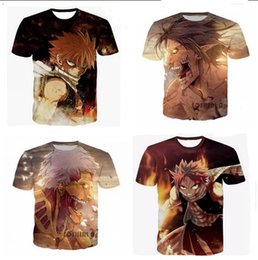 Wholesale Mens Tails - Newest Fashion womens mens Classic Anime Fairy Tail and Attack On Armored Titan Funny 3D Print casual T-shirt XTXP13