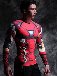 Wholesale T Shirts For Men Lycra - Black Panther 3D Printed T-shirts Captain America Civil War Tee Long Sleeve Cosplay Halloween Costumes Compression Tops Male For