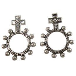 Wholesale Cross Ring Finger - 50pcs of Religious Anello Preghiera Finger Decade Rosary Ring