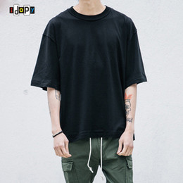 Wholesale Wholesale Hipster Clothes - Wholesale- Wholesale Price Oversized T Shirt Homme Clothes T-shirt Hip Hop Tshirt Streetwear Mens Loose Fit Extended T Shirts For Hipster