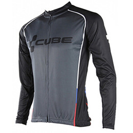 cube bicycle black Promo Codes - New Cube Cycling Clothing Men Tour de france Cycling Jersey long sleeve jacket bike mtb maillot Ropa Ciclismo hombre Bicycle Clothes A1901