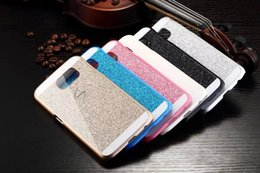 Wholesale Galaxy S4 Shiny Cases - Glitter Shiny Shockproof Hard Plastic Cover Phone Case For iphone 4s 5s 6 7 plus i7 Samsung Galaxy S3 S4 S5 Note 3