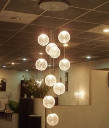 Wholesale Hotel Outlet - The latest E14 Round Ball Pendant Lights 10 Lights lustres de teto Glass modern home lighting fixtures factory outlets LLFA