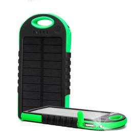 Wholesale Home Usb Chargers - Best Dual USB 5000mAh Waterproof Solar Power Bank Portable Charger Outdoor Travel Enternal Battery Powerbank for iPhone Android phone