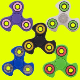 Wholesale Wholesale Hot Wheels Toys - HandSpinner Fingertips Spiral Fingers Gyro Torqbar Hot Wheel Fidget Spinner Acrylic Plastic Fidgets Toys Decompression Toys 6 Colors OTH403