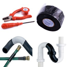 Wholesale Bonding Tapes - Wholesale- New Useful Waterproof Silicone Performance Repair Tape Bonding Rescue Self Fusing Wire Hose Black Sell Silicone Tape