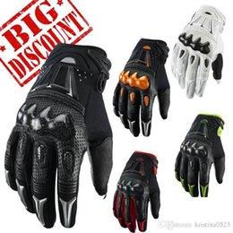 Wholesale New Bmx Bikes - New Brand Men's Fiber gloves Carbon bomber motocross racing gloves BMX ATV MTB MX Off Road glove Dirt bike Cycling bicycle Motorcycle gloves