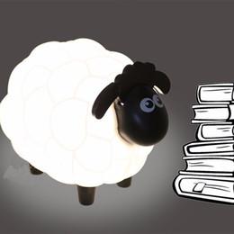 Wholesale Led Sheep Night Light - NEW Cartoon Sheep Led Night Light Children Bedroom Desk USB Chargable Lamp Protect Eye Lamp Best Gifts For Children