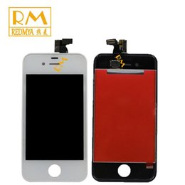 Wholesale 4g Color Lcd - 1PCS For iPhone 4G 4S LCD Display Touch Screen Assembly Panels Repair Replacement Part 3.5 Inch High Quality Grade A Black & White Color