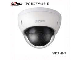 Wholesale ip camera outdoor wdr - Dahua IP Camera 4MP HD WDR Network Vandal-proof IR Mini Dome Camera IPC-HDBW4421E Support Multiple Network Monitoring Free shipping