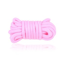 Wholesale Sex Tie Rope - 5M Adult Game Strong Cotton Rope Fetish Sex Restraint Bondage Ropes Tied Comfortable SM Toys For Women Men
