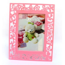 Wholesale Butterfly Picture Framing - 7 inch butterfly modeling picture frame wall creative simple frame Decoration photo frames for children wedding photography room home decora