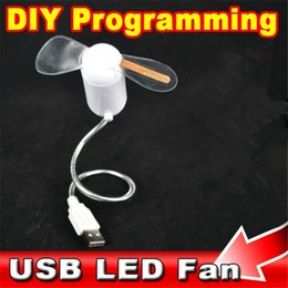 Wholesale Fans Messages - Wholesale- Flexible USB Mini LED Light Fan DIY Programming Any Text Editing Creative Reprogramme Character Advertising Message Greetings