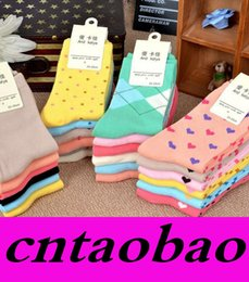 Wholesale Socks Factory Price - women Socks Woman Pure Color 100% cotton Socks Rhombus Socks suit for 23-25cm length Freeshipping Fast Hot Factory Price