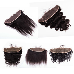Wholesale Malaysian Body Wave Frontals - Straight Body wave Loose Deep Kinky Curly Kinky Straight 13x4 Malaysia Hair Lace Frontal and Closure Ear to Ear Lace Frontals