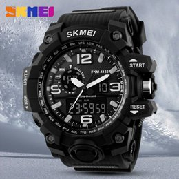 Wholesale Skmei Watches - SKMEI Luxury Brand Fashion Sport Super Men's Quartz Digital Watch Men Sports Watches LED Military Waterproof Wristwatches