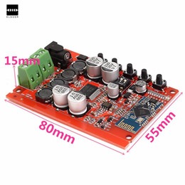 Wholesale Audio Amplifier Receiver - New Arrival Red TDA7492P Wireless Bluetooth CSR4.0 Hifi Audio Digital Receiver Amplifier Board PCB Material Amplifier Module