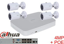 Wholesale Security Camera System Poe Outdoor - Dahua 4pcs 4MP POE IP Camera DH-IPC-HFW4421S System Security Camera Outdoor 8CH 1080P NVR4108-8P Kit H.264 Video Recorder