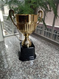 Wholesale Trophy Cups Metal - plastic base open cup trophy, golden cup trophies, floating cup metal trophy