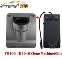 Wholesale Transponder Copy Machine - DHL free shiping New Release V3.48 TM100 Transponder Key Programmer + ID46 Cloner Key Program ,Car programming machine TM 100 KEY COPY TOOL