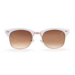 Wholesale Progressive Bag - Brand new sunglasses for men Round polarized sunglasses Real white progressive tea UV400 with Glasses cloth bag box GS81-2