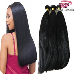 Wholesale Retail Virgin Hair - Wholesale retail Indian Straight Human Hair Weaves 3pc lot Virgin Hair Bundles weft weaving Natural color can be dyed free Epacked