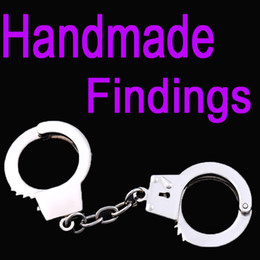 Wholesale Metal Handmade Car - Small Handcuffs Antique Silvery Alloy Handmade Findings Fit Making Crafts Metal Thumb Cuffs Keychain Gift B101Q