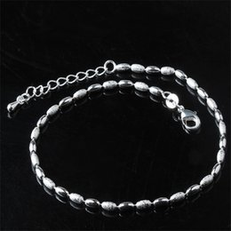 Wholesale Silver Ball Anklet - Sterling silver 925 Little Bell Anklet Bracelet Women Girl Lover Barefoot Anklet Fashion Foot Chain Jewelry ankle bracelets for women