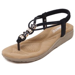 Wholesale Gladiator Style Heels - Sandals Lady Slipper Bohemian Style Gladiator Woman Flip Flops Beach Sandal Flat Female Fashion 2017 Sandalias Mujer. LX-031
