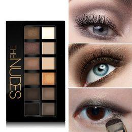 Wholesale Eye Nake - Too Hot Sale 12 colors Pigment Bronzer Glitter Matte Eye Shadow Face Makeup Nake Palette Nude Eyeshadow Kit