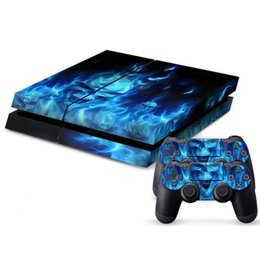 Wholesale Ps4 Brand New - Waterproof Skin for PS4 Sticker for Sony PlayStation 4 and 2 Controller Skins for PS4 Stickers Blue Color Brand New