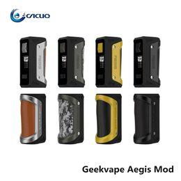 Wholesale Support For Batteries - Authentic GeekVape Aegis Mod 100W TC Box MOD Waterproof Shockproof Dust-proof Supports Fit for 18650 Or26650 Battery Vape Mod Box Original