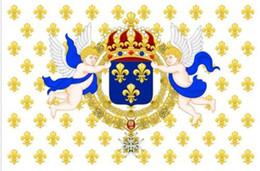Wholesale France Flag Polyester - Royal Standard of the King of France 1643-1765 Ensign Flag 3ft x 5ft Polyester Banner Flying 150* 90cm Custom flag outdoor