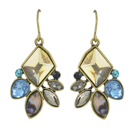 Wholesale Design Come - New Coming Antique Design Colorful Rhinestone Drop Earrings Jewelry Fashion