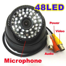 Wholesale Analog Cctv - HD CCTV 700TVL CMOS Sensor Module 48 IR Led Night Vision Security Dome Camera With Audio For Home Surveillance Analog Cam