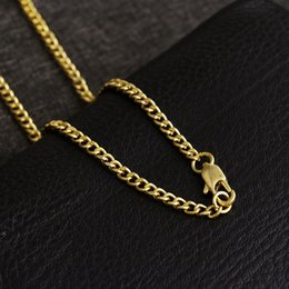 Wholesale Cuban Link Wholesale - 18k gold Cuban chain necklace men's gift chain personalized wholesale jewelry men's hip hop style jewelry