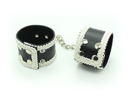 Wholesale Sex Handcuffs For Sale - New Arrival1PC Sexy Bondage Flower Decoration Pu Leather Handcuffs Or Ankle Cuffs,Wrist Hand Cuffs Erotic Toy Sex Tools For Sale