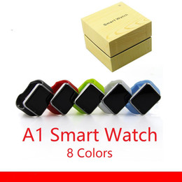Wholesale Hot Clocks - 2017 Latest Best A1 Smart Watch Hot Sell Bluetooth Smart watches Wrist Cheap Smart Clock With Camera for Android Smartphone