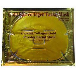 Wholesale Crystal Bio Mask - Gold Bio-Collagen Facial Mask Face Mask Crystal Gold Powder Collagen Facial Mask Moisturizing Anti-aging Skin Care Makeup XL-M173
