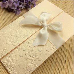 Wholesale Wedding Invitations Blank Inside - Wedding Invitations laser Cut wedding Invitations Wedding Invitations Sets Blank Inside With Envelope Sticker Folding Size 4.37x6.7inch