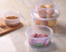Cocina reutilizable Caja de almacenamiento de vegetales de alimentos frescos de plástico Contenedor de 4 piezas, Caja fuerte de congelador de microondas, Blanco claro desde fabricantes