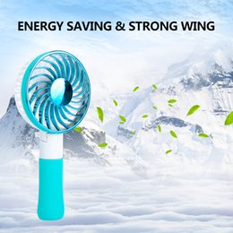 Wholesale Mini Electric Hand Fan - USB Rechargeable Handheld Mini Fan Portable Folding Cooling Fan Foldable Hand Three generation mini folding hand fan