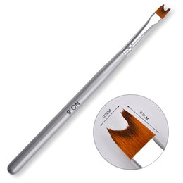 Wholesale French Tip Nail Brush - #8 French Brush Pen Acrylic UV Gel Polish Nail Art Painting Drawing Tips DIY Tools Salon Design Manicure Pedicure Beauty New Hot