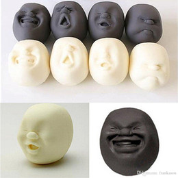 Wholesale Caomaru Face Stress Ball - 4pcs set Vent Human Face Ball Anti-stress Ball of Japanese Design Cao Maru Caomaru White Brown Decompression Fidget Toys