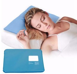 Wholesale Ice Cool Seat Pad - Summer Ice Pad Massager Therapy Insert Chillow Sleeping Aid Pad Mat Muscle Relief Cooling Gel Pillow KKA1847