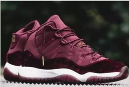 Wholesale New Mens Basketball Shoes 11 - New Released mens basket shoes Retro 11 Velvet Heiress Wine Red Women 11s Velvet Heiress Night Maroon Trainers new basketball sneakers shoe