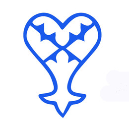 Wholesale Flag Car Window - Wholesale 10pcs lot Force Flag Classic Children's Cartoon Justice Kingdom Hearts Car Sticker for SUV Motorcycles Car Styling Vinyl Decal