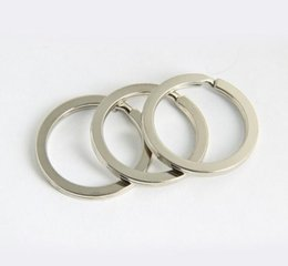 Wholesale Supply Chain Accessories - Portable 50pcs Lot Key Rings Split Rings Circle Diameter 28mm Key Ring Key Chains Supplies Keychain Making Diy Accessories